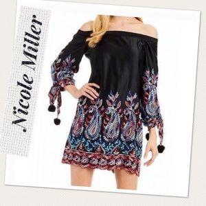 Nicole Miller New York Off Shoulder Dress